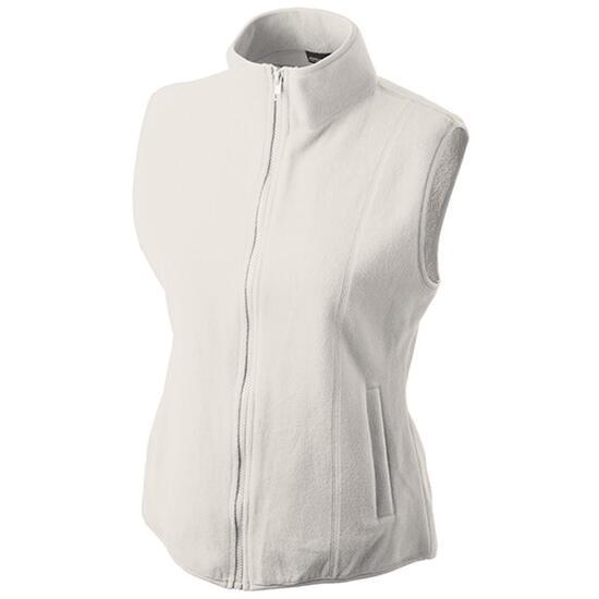James & Nicholson Girly Microfleece Vest weiß