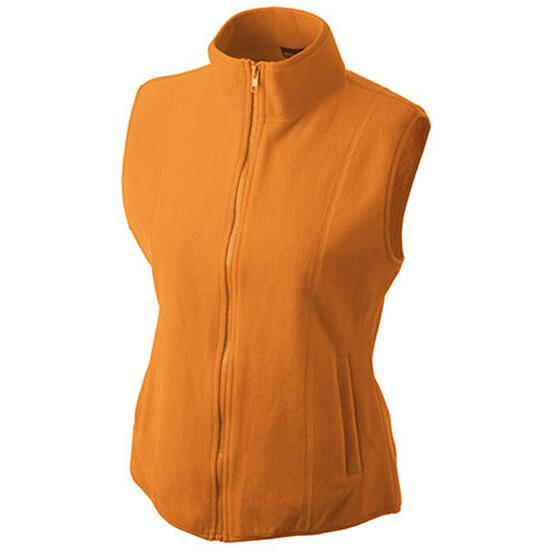 James & Nicholson Girly Microfleece Vest orange
