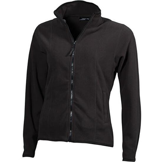 James & Nicholson Girly Microfleece Jacket grau