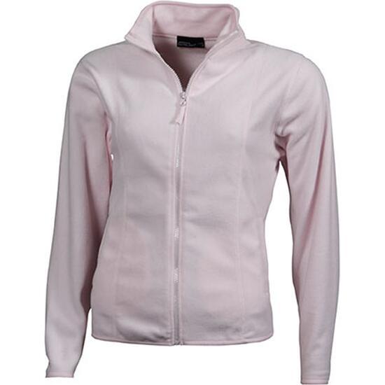 James & Nicholson Girly Microfleece Jacket pink