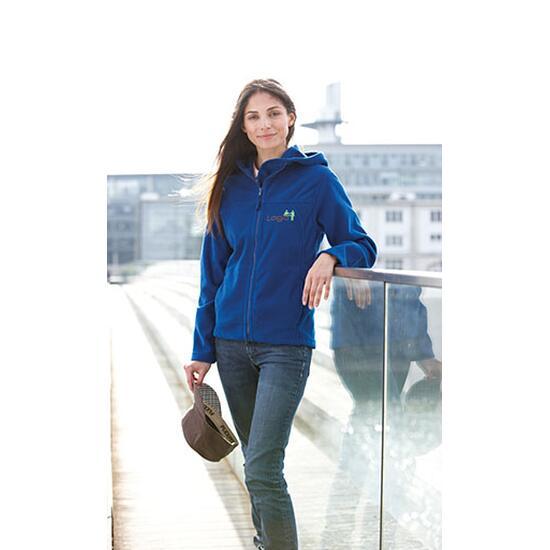 James & Nicholson Girly Microfleece Jacket blau
