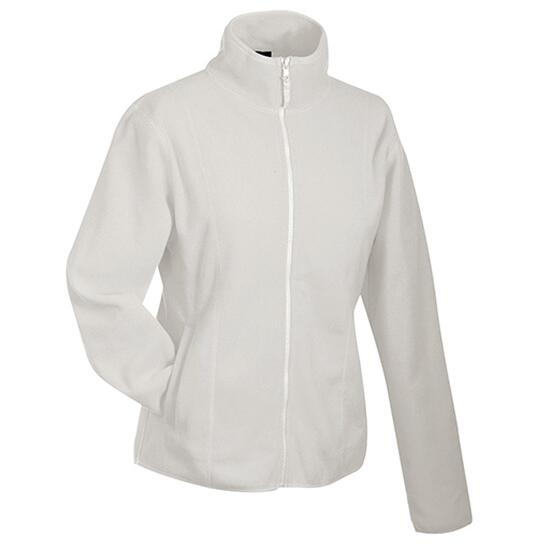 James & Nicholson Girly Microfleece Jacket weiß