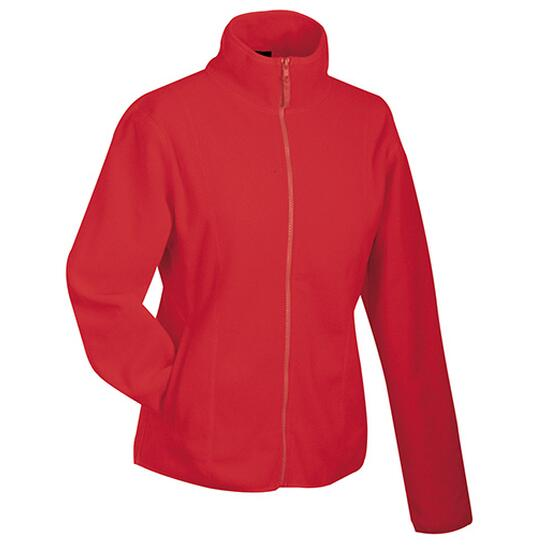 James & Nicholson Girly Microfleece Jacket rot