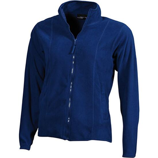 James & Nicholson Girly Microfleece Jacket blau