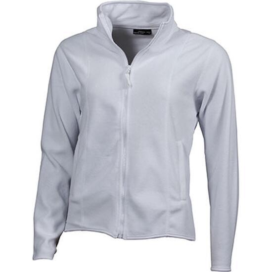 James & Nicholson Girly Microfleece Jacket weiß