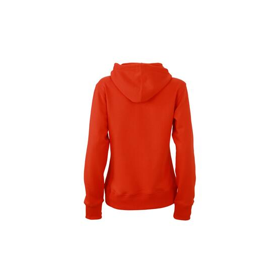 James & Nicholson Ladies Hooded Sweat rot