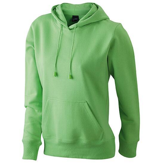 James & Nicholson Ladies Hooded Sweat grün