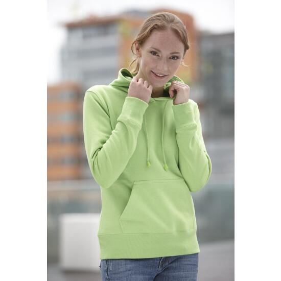 James & Nicholson Ladies Hooded Sweat blau