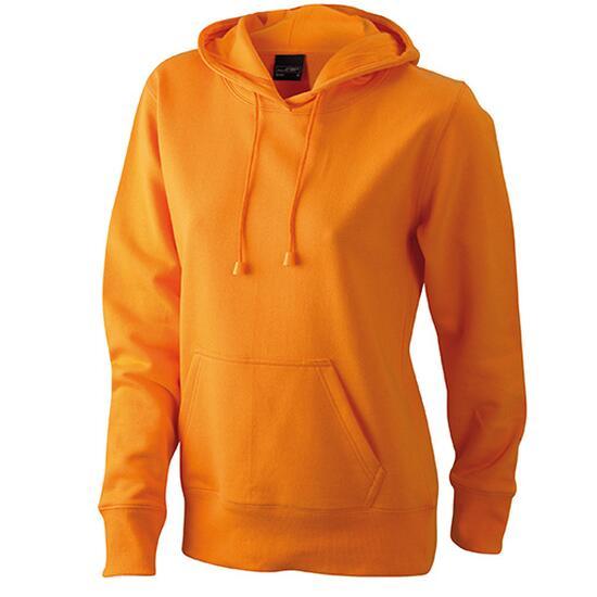 James & Nicholson Ladies Hooded Sweat orange