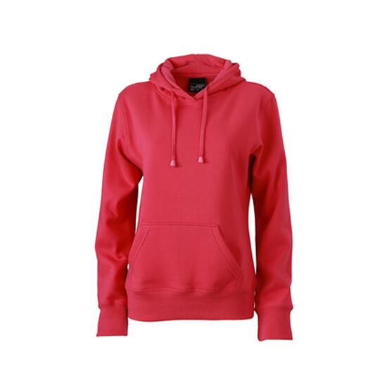 James & Nicholson Ladies Hooded Sweat pink