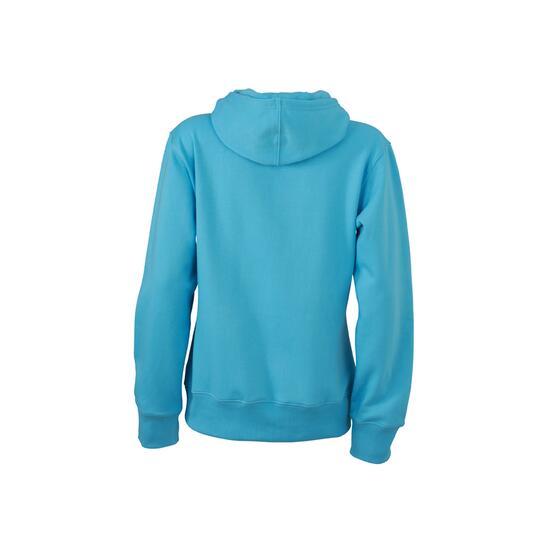 James & Nicholson Ladies Hooded Sweat blau