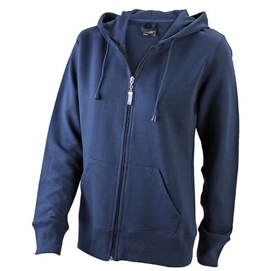 James & Nicholson Ladies Hooded Jacket blau