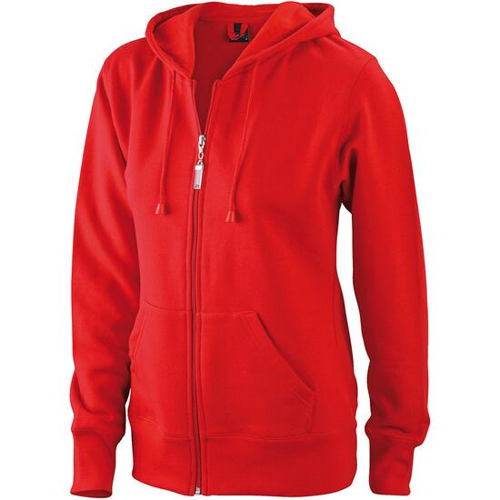 James & Nicholson Ladies Hooded Jacket rot