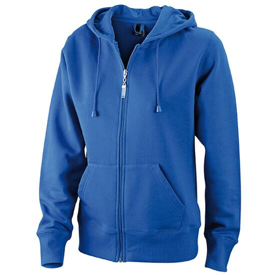 James & Nicholson Ladies Hooded Jacket blau
