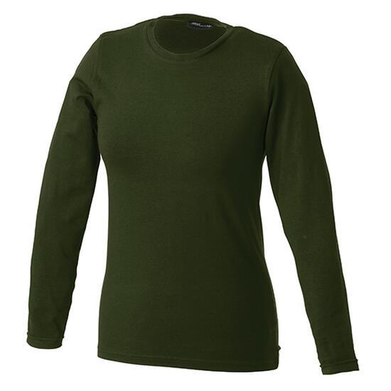 James & Nicholson Tangy-T Long-Sleeved braun/grün
