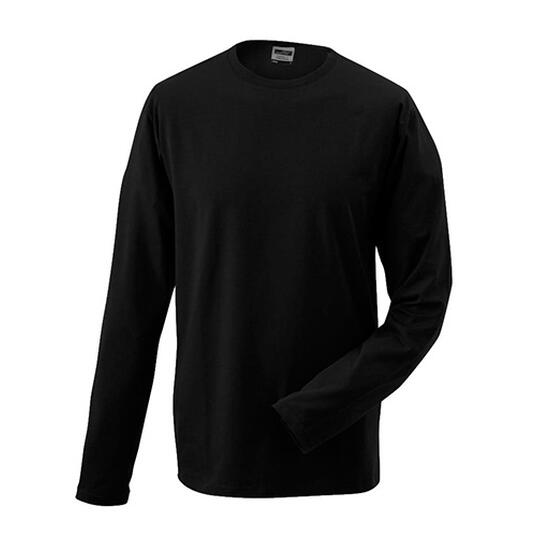 James & Nicholson Elastic-T Long-Sleeved schwarz
