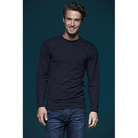 James & Nicholson Elastic-T Long-Sleeved grün