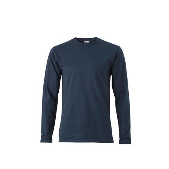 James & Nicholson Elastic-T Long-Sleeved blau