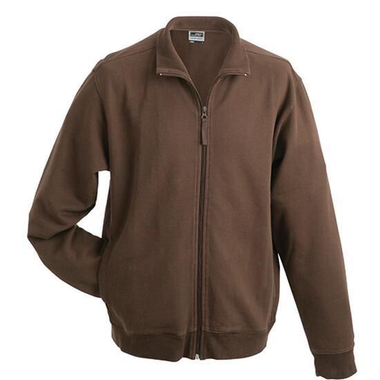 James & Nicholson Sweat Jacket braun