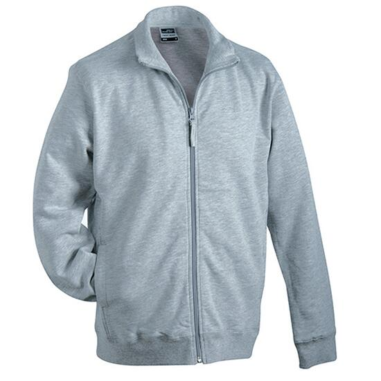 James & Nicholson Sweat Jacket grau
