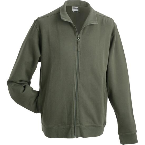 James & Nicholson Sweat Jacket braun/grün