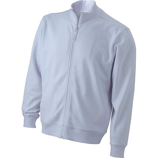 James & Nicholson Sweat Jacket weiß
