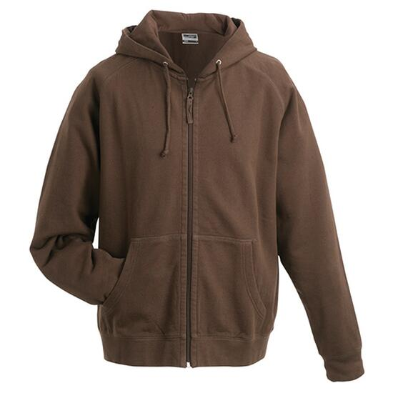 James & Nicholson Hooded Jacket braun