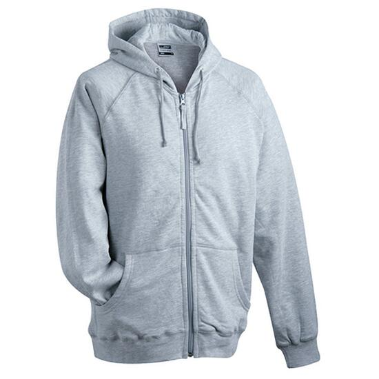 James & Nicholson Hooded Jacket grau