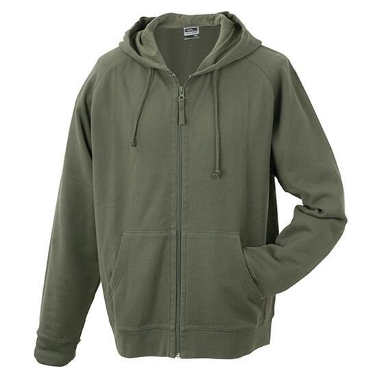 James & Nicholson Hooded Jacket braun/grün