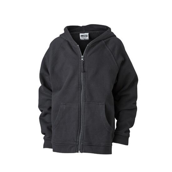 James & Nicholson Hooded Jacket Junior schwarz
