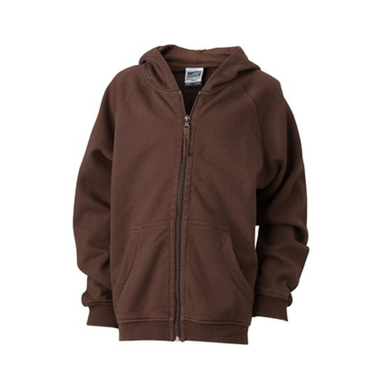 James & Nicholson Hooded Jacket Junior braun
