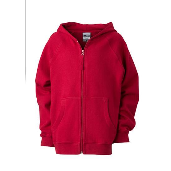 James & Nicholson Hooded Jacket Junior rot