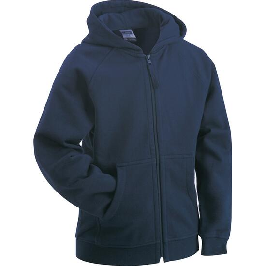 James & Nicholson Hooded Jacket Junior blau