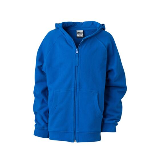 James & Nicholson Hooded Jacket Junior blau