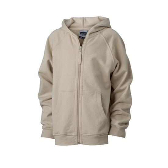 James & Nicholson Hooded Jacket Junior braun/grau