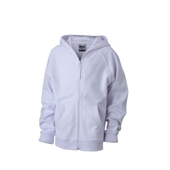 James & Nicholson Hooded Jacket Junior weiß