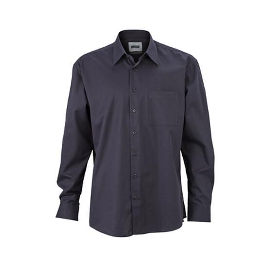 James & Nicholson Business Shirt Long schwarz