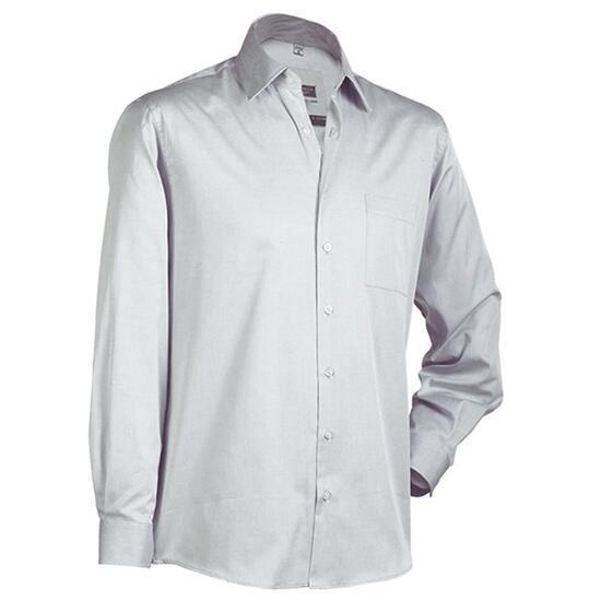 James & Nicholson Business Shirt Long grau