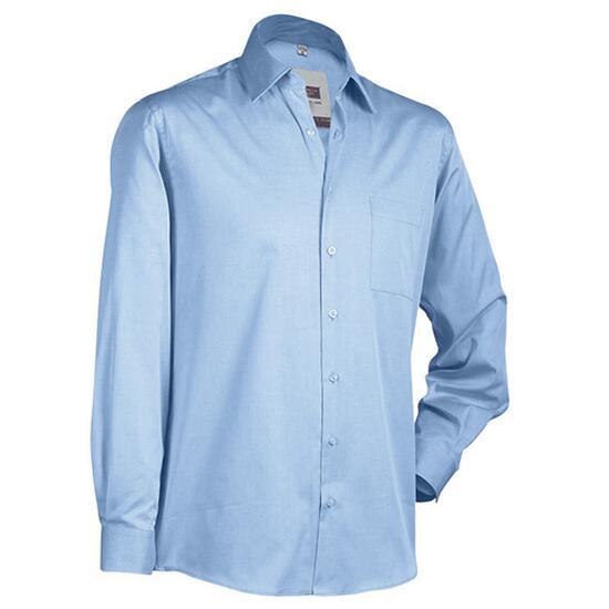 James & Nicholson Business Shirt Long blau