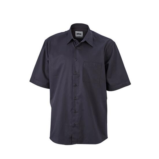 James & Nicholson Business Shirt Short schwarz