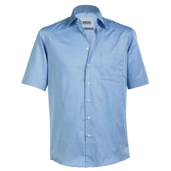 James & Nicholson Business Shirt Short blau