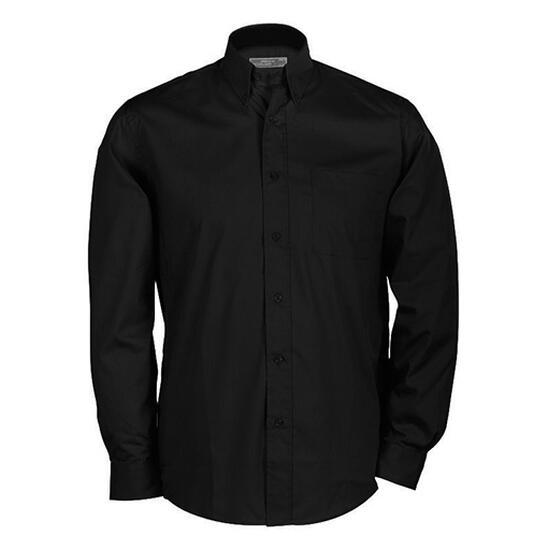 James & Nicholson Buttondown Shirt Long schwarz