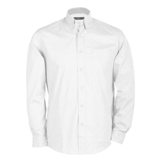 James & Nicholson Buttondown Shirt Long weiß
