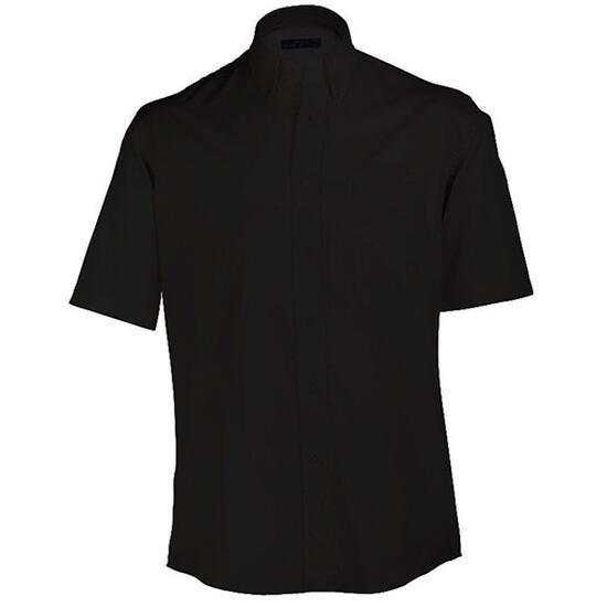James & Nicholson Buttondown Shirt Short schwarz