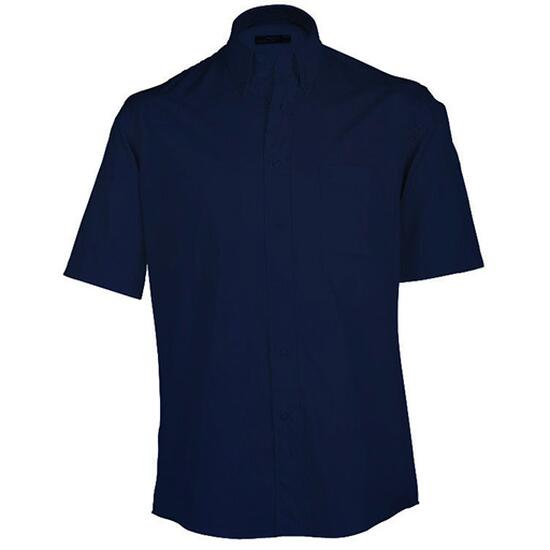 James & Nicholson Buttondown Shirt Short blau