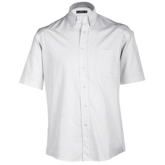 James & Nicholson Buttondown Shirt Short weiß