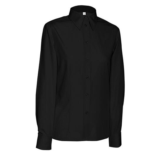 James & Nicholson Ladies Blouse Long schwarz
