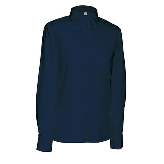 James & Nicholson Ladies Blouse Long blau
