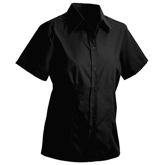James & Nicholson Ladies Blouse Short schwarz