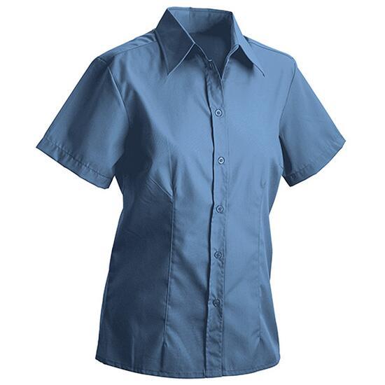 James & Nicholson Ladies Blouse Short blau